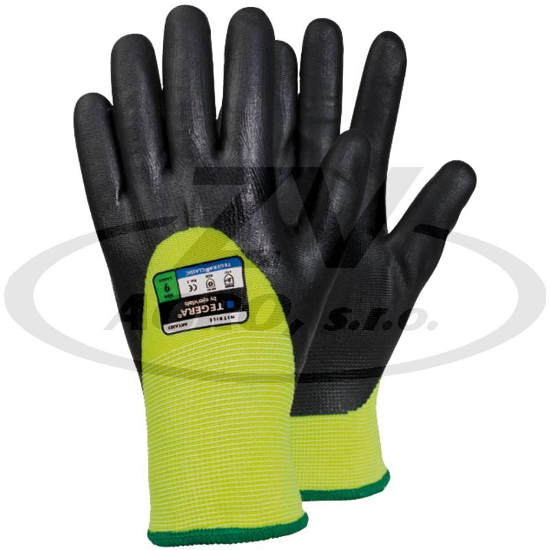 Nitrilové rukavice, s podšívkou, vel. 8