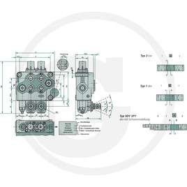 Monoventil SD5-3-P-3x(18L)-AET