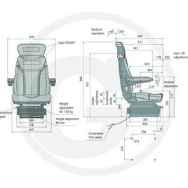Traktorové sedadlo pneumatické