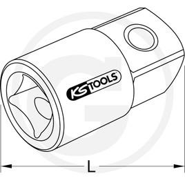"""KS Tools 1/2"""" Redukční adaptér"""