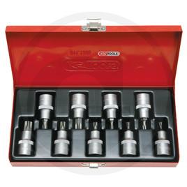 """KS Tools 1/2"""" Sada bitů a ořechů pro TX-šrouby, 9-dílů., T20-T60"""