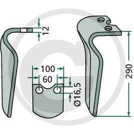 Hrot rotačních bran