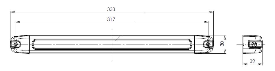 LED SVÍTILNA INTERIÉRU 12 V