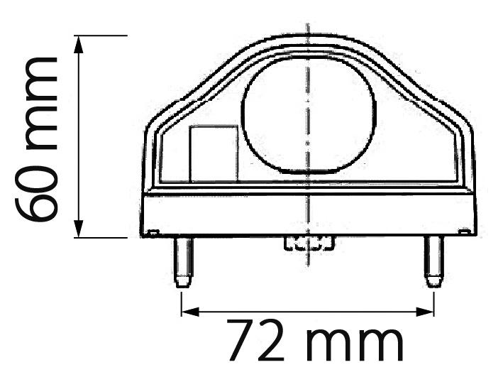 LED OSVĚTLENÍ SPZ S ČERVENÝM POUZDREM S KONCOVKOU P&R + 0,5 m KABEL