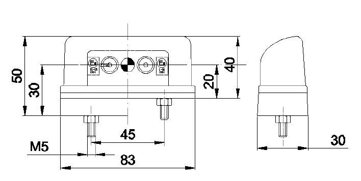 LED OSVĚTLENÍ SPZ UNIVERZÁLNÍ + 0,40 m KABEL