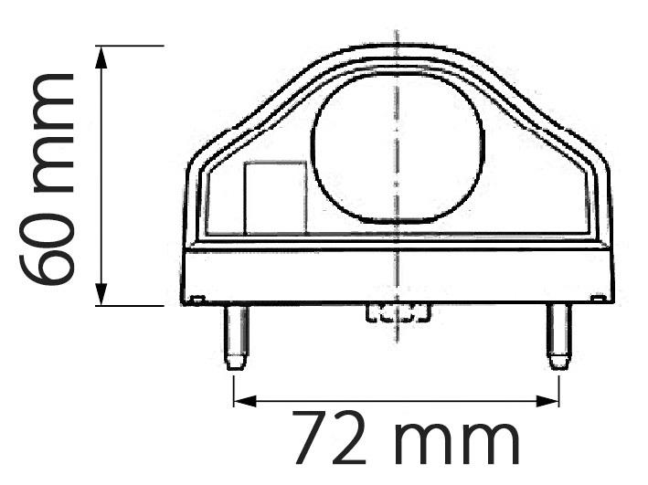 LED OSVĚTLENÍ SPZ 12/24V S ČERNÝM POUZDREM REGPOINT + 0,5 m KABEL