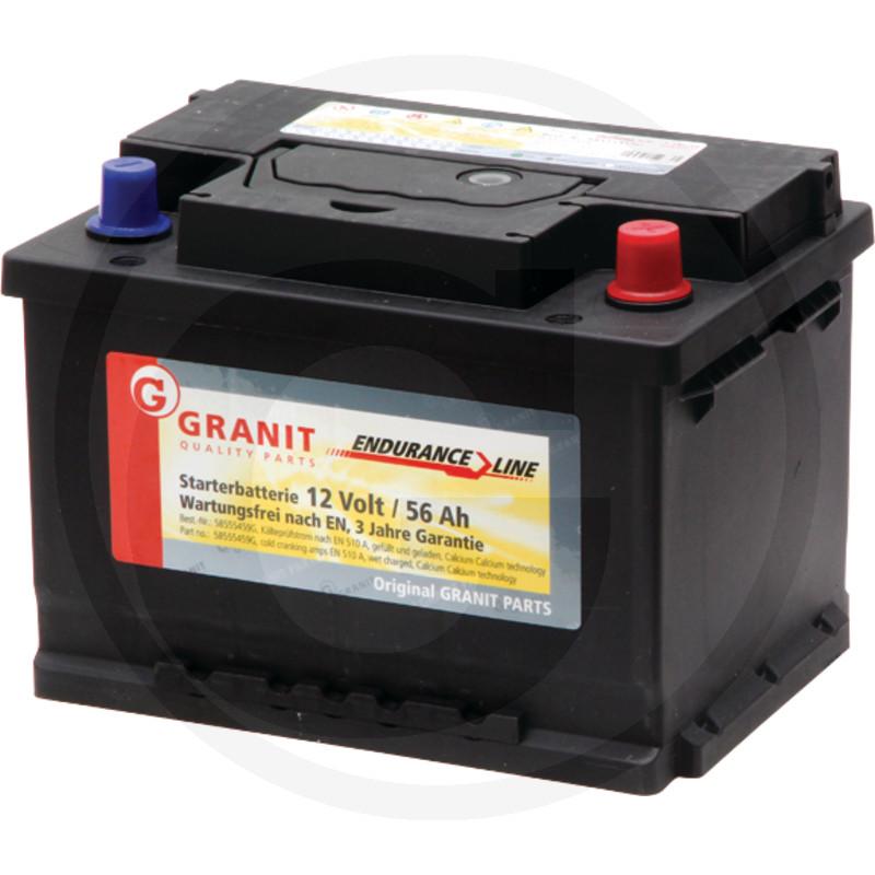 Baterie 12V 56Ah plná - bezúdržbová