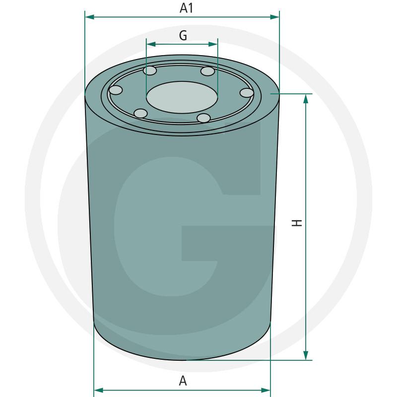 Fleetguard Filtr hydraulického/převodového oleje