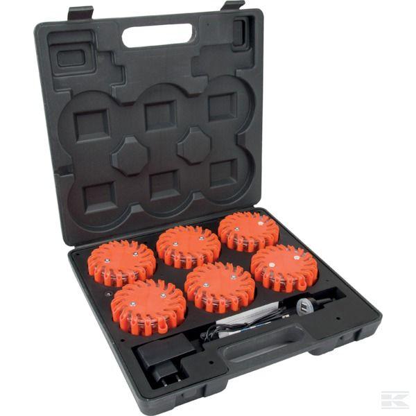 LA80002 6 x Nouzový LED blikač v kufříku