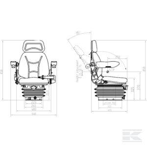 TS40000GP mechanicky odpružená sedačka