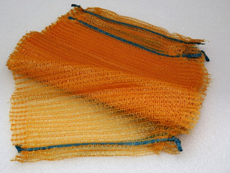 Rašlový pytel na brambory obsah 30 kg (barva oranžová)