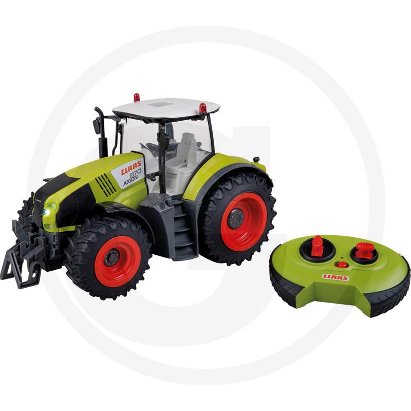 Traktor CLAAS Axion 870 RC model plně ovladatelný, včetně dálkového ovládání, světla, 2.4 GHz, plast, včetně baterie