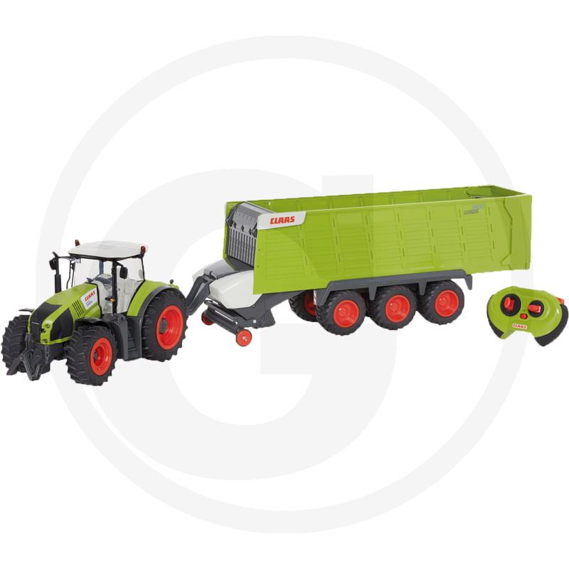 Traktor CLAAS Axion 870 s přívěsem CargoS9600 RC model ovladatelný, 2.4 GHz, včetně dálkového ovládání, světla, plast, včetně baterie