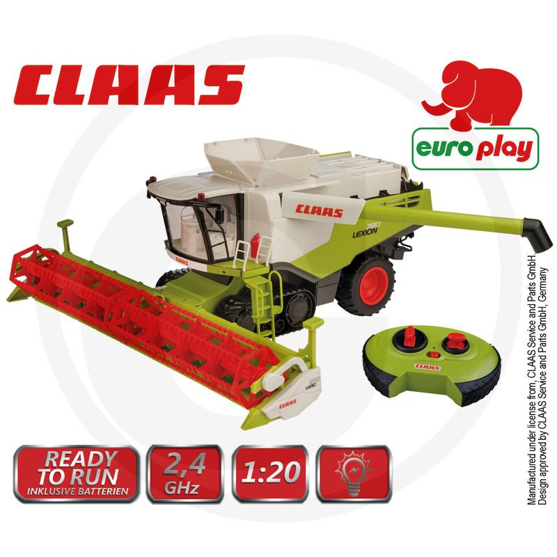 Kombajn CLAAS Lexion 7850 RC model dálkově ovladatelný, včetně dálkového ovládání, se světly, plast, včetně baterie