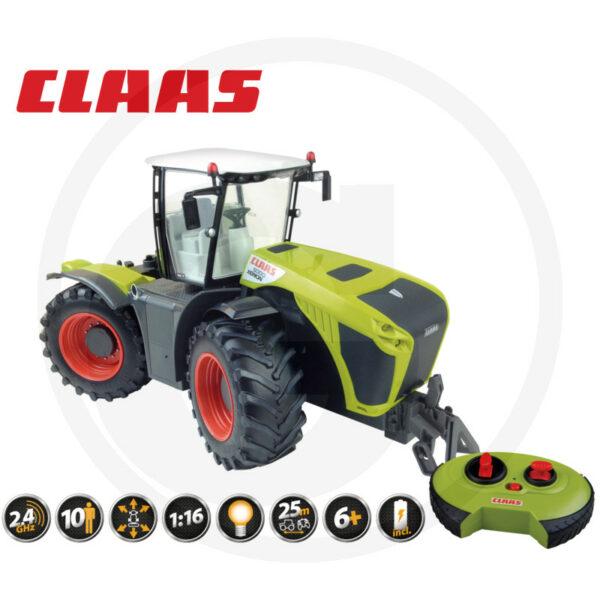 Traktor Class Xerion 5000 RC model dálkově ovládaný, 2,4 GHz, plné řízení a funkce jízdy, 5 km/h, řiditelné nápravy a kabina otočná o 180°, 46 cm