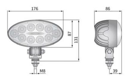 LED PRACOVNÍ SVĚTLOMET S VYPÍNAČEM - 4000 LUMENŮ, 12V / 24V + 8 M KABEL