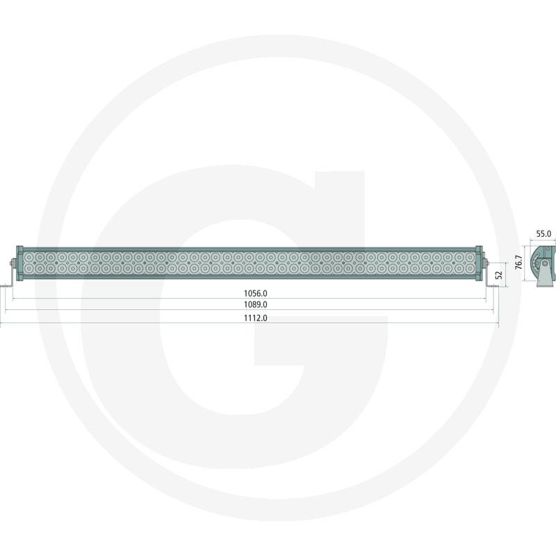 LED SVĚTELNÁ RAMPA 1112 mm - 240W/21600 LUMENŮ