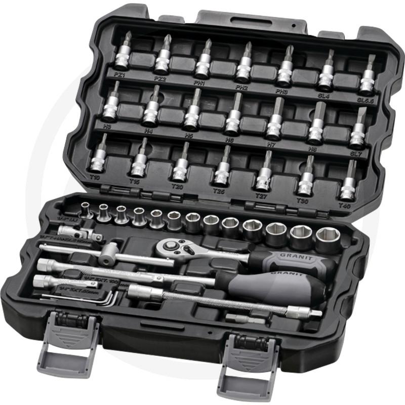 """GRANIT BLACK EDITION Sada nástrčných klíčů 1/4"""""""