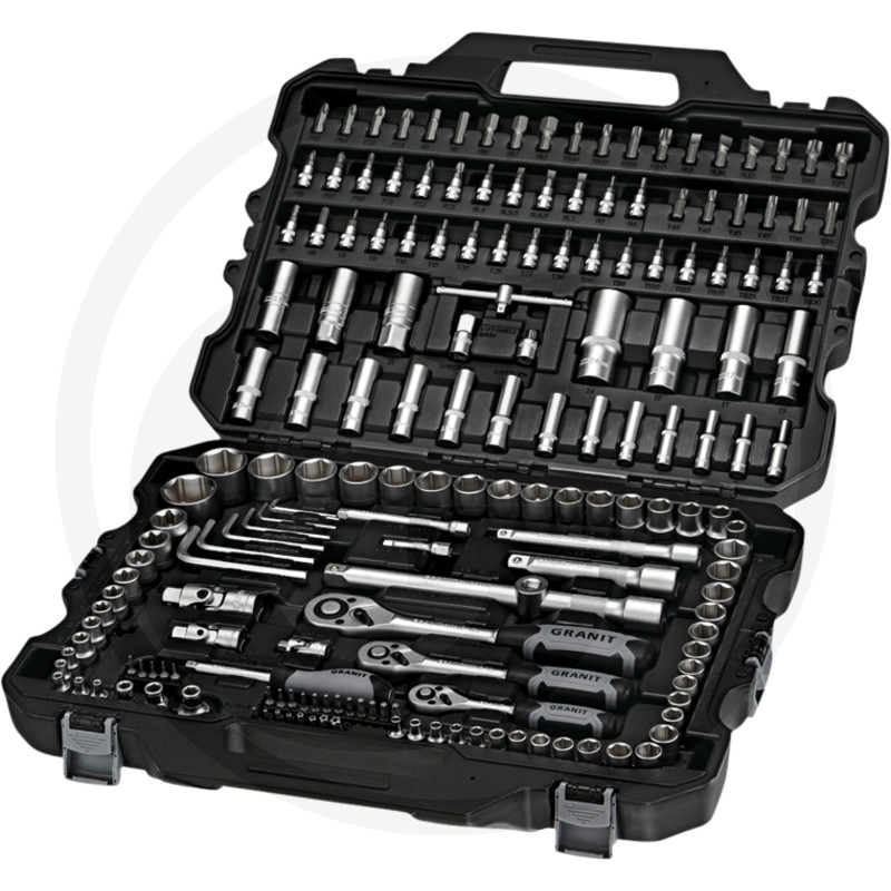 """GRANIT BLACK EDITION Sada nástrčných klíčů 1/4"""", 3/8"""", 1/2"""" 181 ks"""